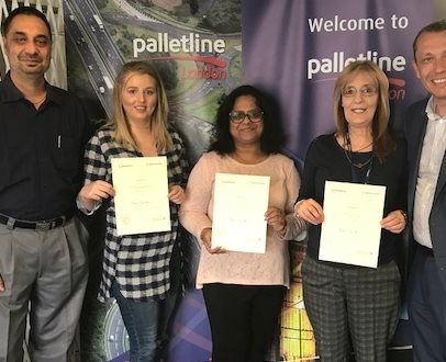 Palletline London Employees Pass their NVQ Level 2 in Customer Service with Flying Colours
