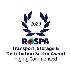RoSPA Transport, Storage& Distribution Sector Award Highly Commended